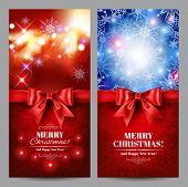 Christmas cards set. Vector eps 10