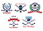 Ice Hockey heraldic emblems and symbols
