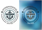 International voyager marine heraldic banner