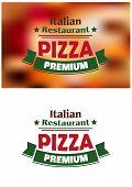 Premium italian pizza labe