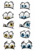 Постер, плакат: Cartooned eyes with different emotions