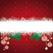 image of x-files  - Christmas cover with white snowflakes on the red background - JPG