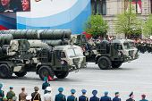 MOSCOW - 6 May 2010: S-400 Triumf. Dress rehearsal of Military Parade on 65th anniversary of Victory in Great Patriotic War on May 6, 2010 on Red Square in Moscow, Russia