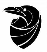 Stylized Raven Head