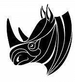 Stylized Rhino Head