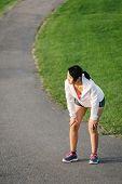 Athlete Taking A Running Rest