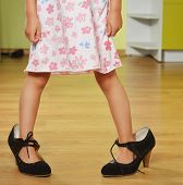 Girl In Big Shoes