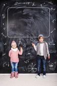 Boy And Girl Studying Math