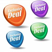 Exclusive Deal Colorful Vector Icon Design