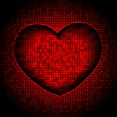 techno heart background