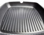 stripped surface of steak frying pan