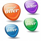 Limited Time Offer Colorful Vector Icon Design