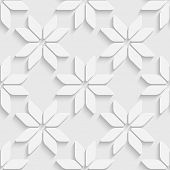 White Stars Pattern. Vector Seamless Background