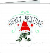 Snowman christmas card with