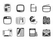 Silhouette Media icons