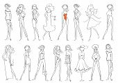Women In Fashion Clothes Isolated On White