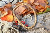 Ethnic Handmade Wooden Necklace And Bracelet