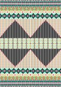 Tribal print,border pattern with stripe