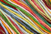 Multicolor Sewing Threads Texture