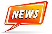 News Design Orange Speech