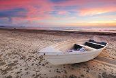 Boat Sunset in Tanjung Aru Beach