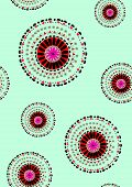 picture of hippy  - Round Ornament Pattern - JPG