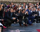 LOS ANGELES - DEC 8:  Orlando Bloom, Elijah Wood, Lee Pace at the Peter Jackson Hollywood Walk of Fame Ceremony at the Dolby Theater on December 8, 2014 in Los Angeles, CA