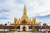Golden Pagoda Wat Phra That Luang In Vientiane, Laos.
