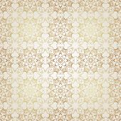 Vector seamless gold on white pattern in Victorian style