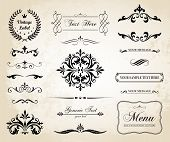 Vintage Vector Decorative Ornament Borders And Page Dividers