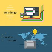 Web design and creative process concept
