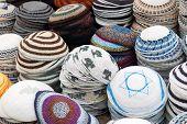 foto of tora  - many piles of Yarmulke  - JPG