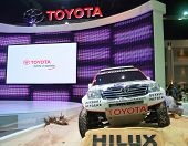 Nonthaburi, Thailand - December 06: The Premium Toyota Hilux Is On Display At Thailand International