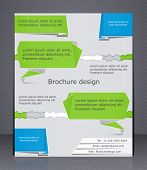 Business Brochure. Brochure Design In The Style Of Origami