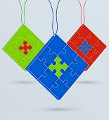 Multi-colored Puzzles On A Chain