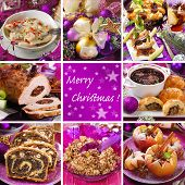 Collage With Traditional Christmas Food