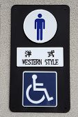 Toilet Sign In Japan