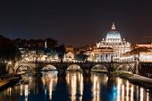 Rome, Angels bridge and St. Peter