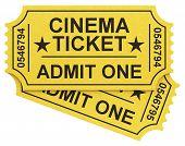 the cinema tickets