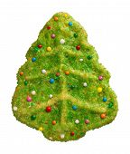 Green Christmas Tree Cookie