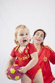 Family Team Spanish Soccer Fan