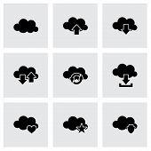 Vector cloud icon set