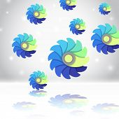 Flower Elements, abstract background, vector eps10 illustration