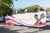 Unidentified Thai People In Parade Anti-corruption Day.