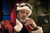 Bad Santa Smoking A Joint