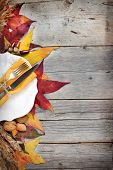 Autumn Table Setting - Retro Table Setting