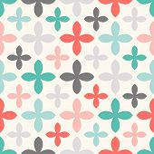 Floral vector seamless pattern. Endless texture