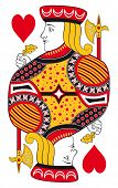 Jack of hearts without playing card background