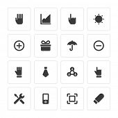 Flat icons vector set and long shadow effect for web design, infographics, ui and mobile apps. Objects, business, office, communication and marketing items