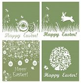 Applique easter cards